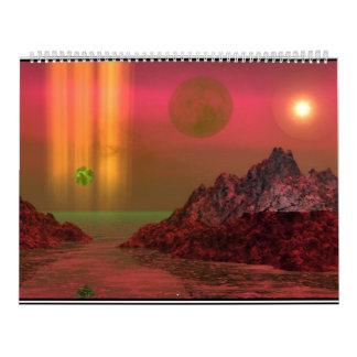 Calendar Fantasy Landscapes