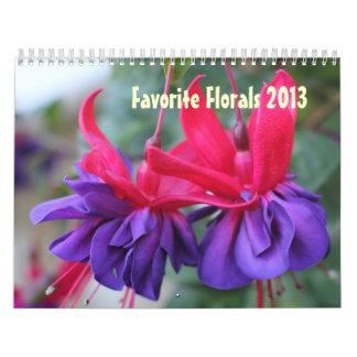 CALENDAR - Favorite Florals 2013