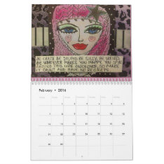 Calendar Filled With Bad Girl Art at Zazzle