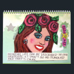 """calendar FILLED WITH BAD GIRL ART<br><div class=""""desc"""">each page has a different image and saying. At the end of the year,  frame the ones you like best.</div>"""