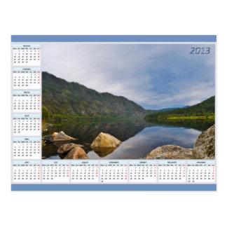 Calendar For 2013 Landscape Post Cards