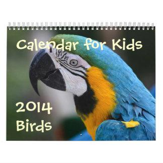 Calendar for Kids - 2014 - Birds