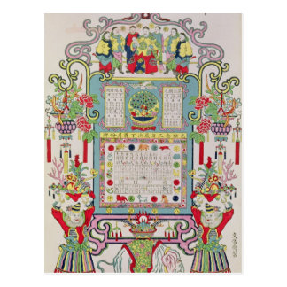 Calendar for Year 23 of the Reign of Emperor Postcard