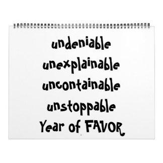 Calendar full of FAVOR