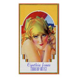 Calendar Girl Business Card Template