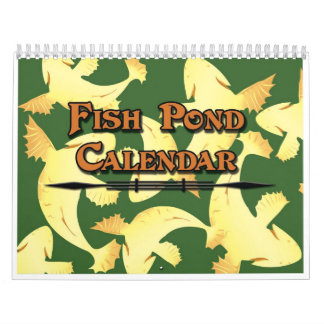 Calendar Koi Fish Pond - Colorful