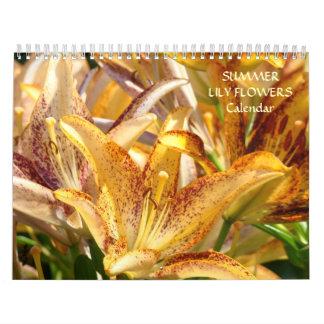 CALENDAR LILIES Calendar LILY Flowers Summer