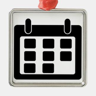 Calendar Metal Ornament