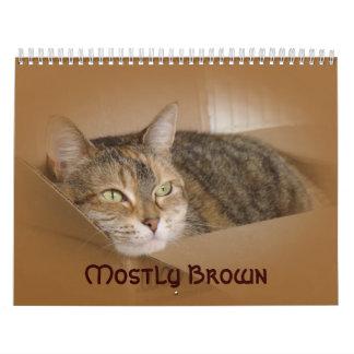 Calendar - Mostly Brown