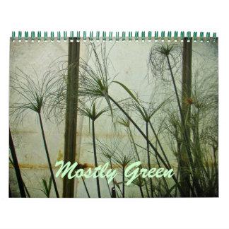 Calendar - Mostly Green