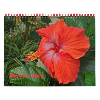 Calendar - Mostly Red