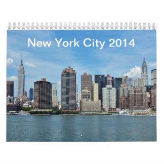 Calendar New York City 2014