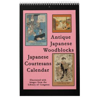 Calendar of Antique Japanese Woodblocks