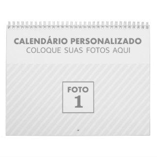Calendar of familiar photos 2018 in Portuguese