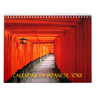 Calendar of Japanese Torii