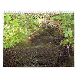 Calendar of scenic Idaho fly fishing spots.