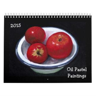 CALENDAR: Original OIL PASTEL PAINTINGS, 2015 Calendar