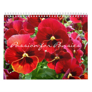Calendar Passion for Pansies