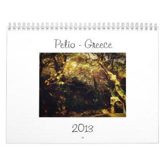 Calendar Pelio, Greece 2013