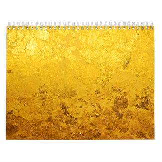Calendar PURE GOLD / gold leaf + your photos/text Wall Calendar