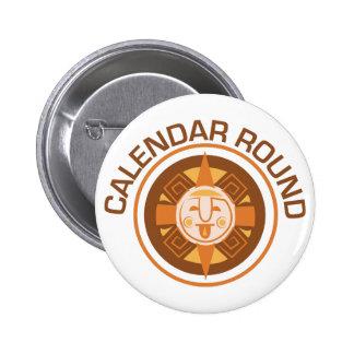 Calendar Round 2 Inch Round Button