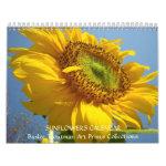 CALENDAR Sunflowers Calendar Sun Flower