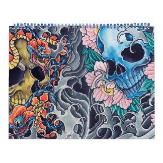 "Calendar ""Tatto Skulls """