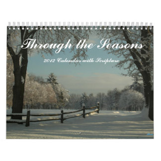 Calendar Through the Seasons 2012 with Scripture