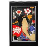 Calendar Vintage Japanese Asian Art Retro Posters