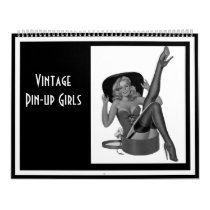 Calendar Vintage Pin-up Girls 14 Images Feb-Jan