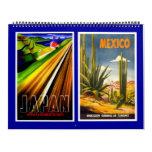 Calendar Vintage Travel Posters Calendars