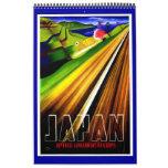 Calendar Vintage Travel Posters Plain