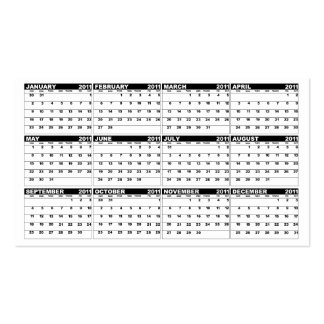Calendar Wallet Sized  Business Card With Name