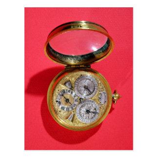 Calendar watch, c.1690 postcard