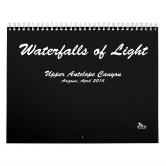 Calendar, Waterfalls of Light, Landscape Photos, Calendar