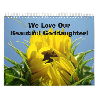 Calendar We Love Our Beautiful Goddaughter Nature