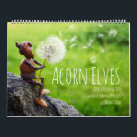 """Calendar with Acorn Elves funny photos<br><div class=""""desc"""">Calendar with funny acorn elves living they life in World Wide Wood :)  Calendar is full of my creative photos from the year 2018. Ideal for all nature lovers!</div>"""