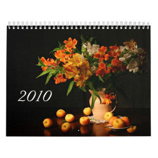 Calendar with beautiful still lifes