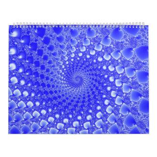 Calendar with fractal images.