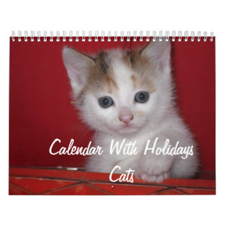 Calendar With Holidays - Cats
