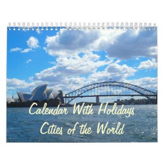 Calendar With Holidays - Cities of the World