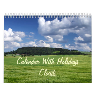 Calendar With Holidays - Clouds