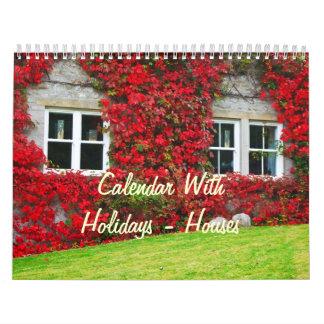 Calendar With Holidays - Houses