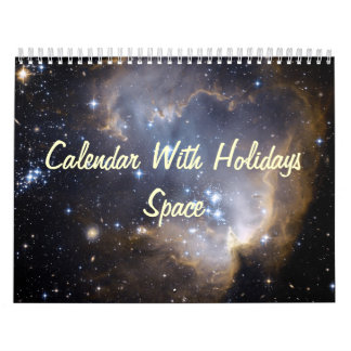 Calendar With Holidays - Space