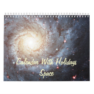 Calendar With Holidays - Space Photos