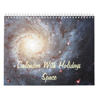 Calendar With Holidays - Space Photos