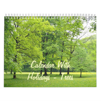 Calendar With Holidays - Trees