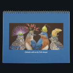 "Calendar with Vicki Sawyer art #4<br><div class=""desc"">birds and animals with natural hats</div>"
