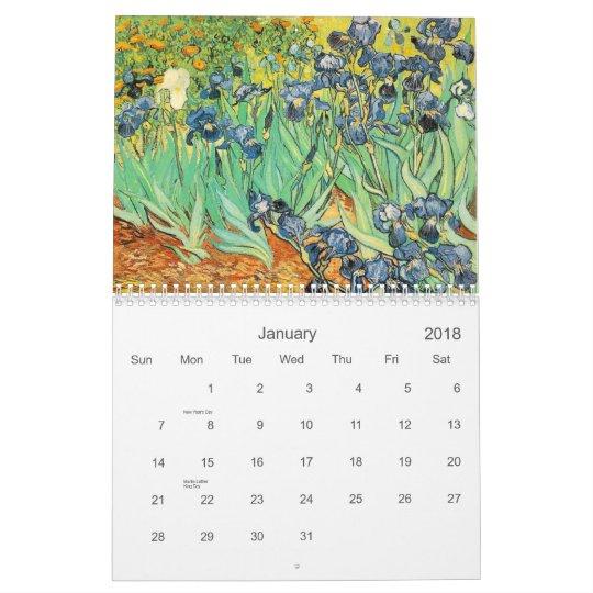 Calendar world famous paintings