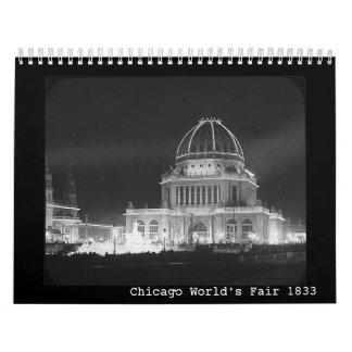 Calendar-World's Fair 1893 Calendar